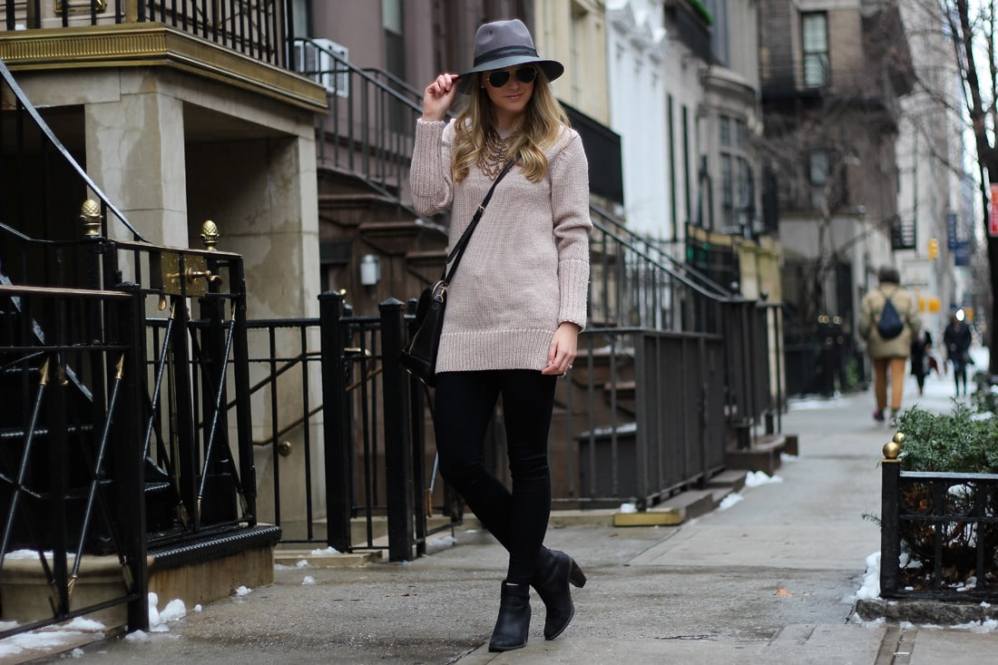 club monaco sweater, panama hat, fossil bag, american eagle leggings, weekend style