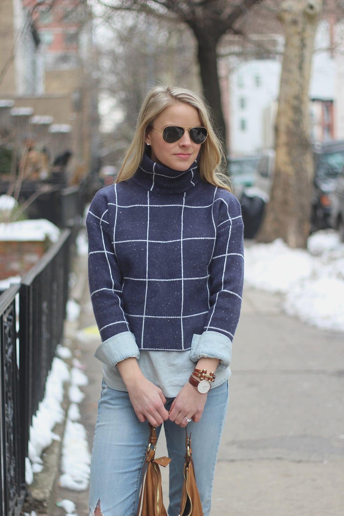 plaid sweater, daniel wellington, geoffrey scott,, winter sweaters
