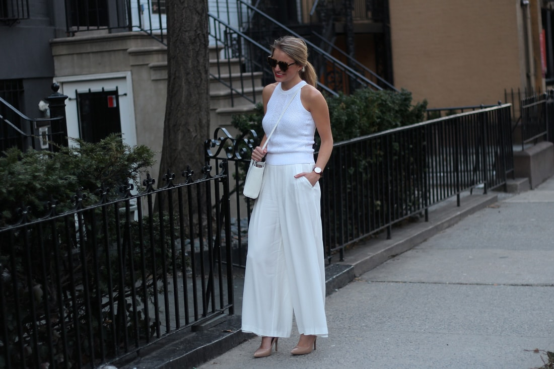 wide leg trousers, spring fashion, white pants