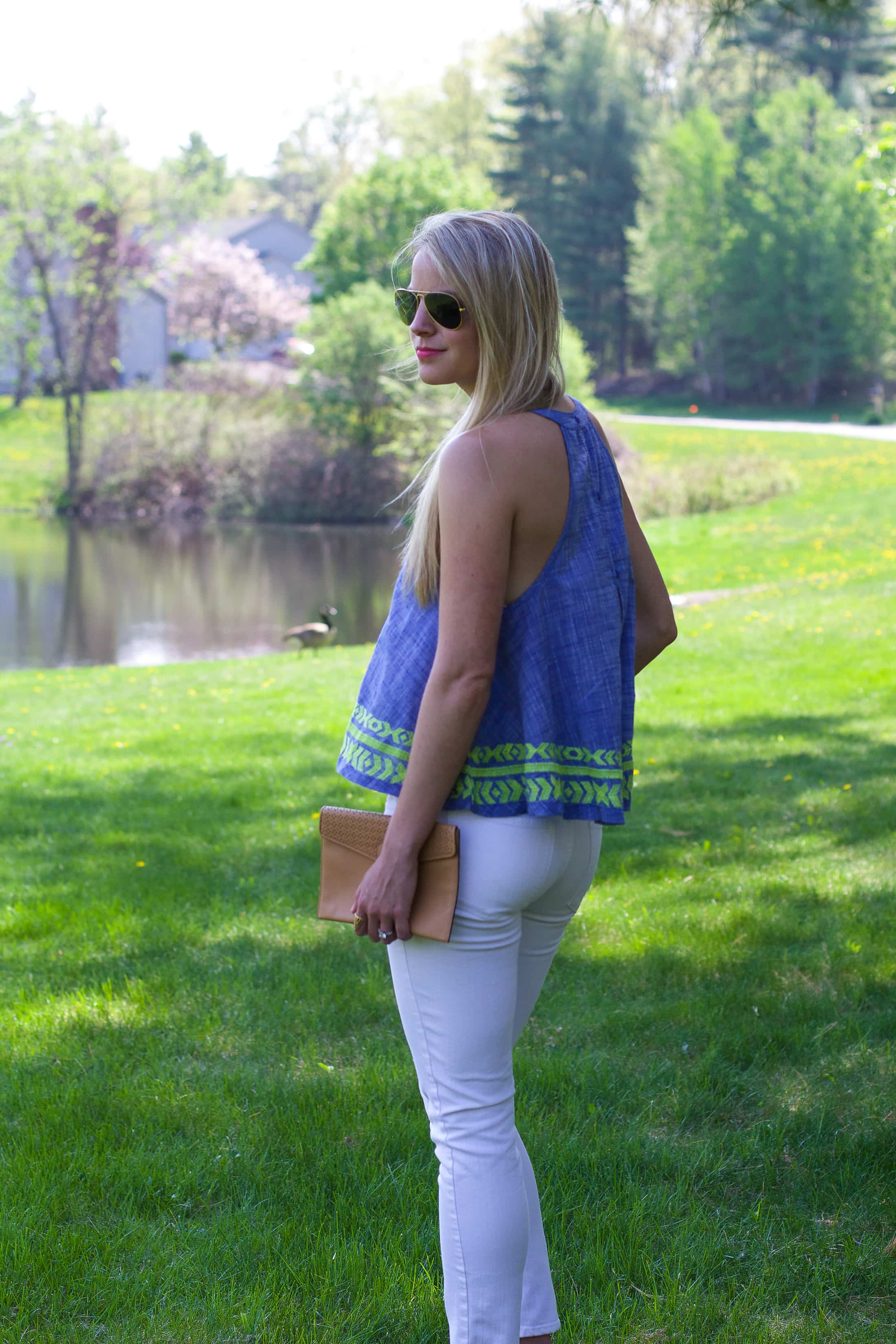 Chambray tank, summer fashion,
