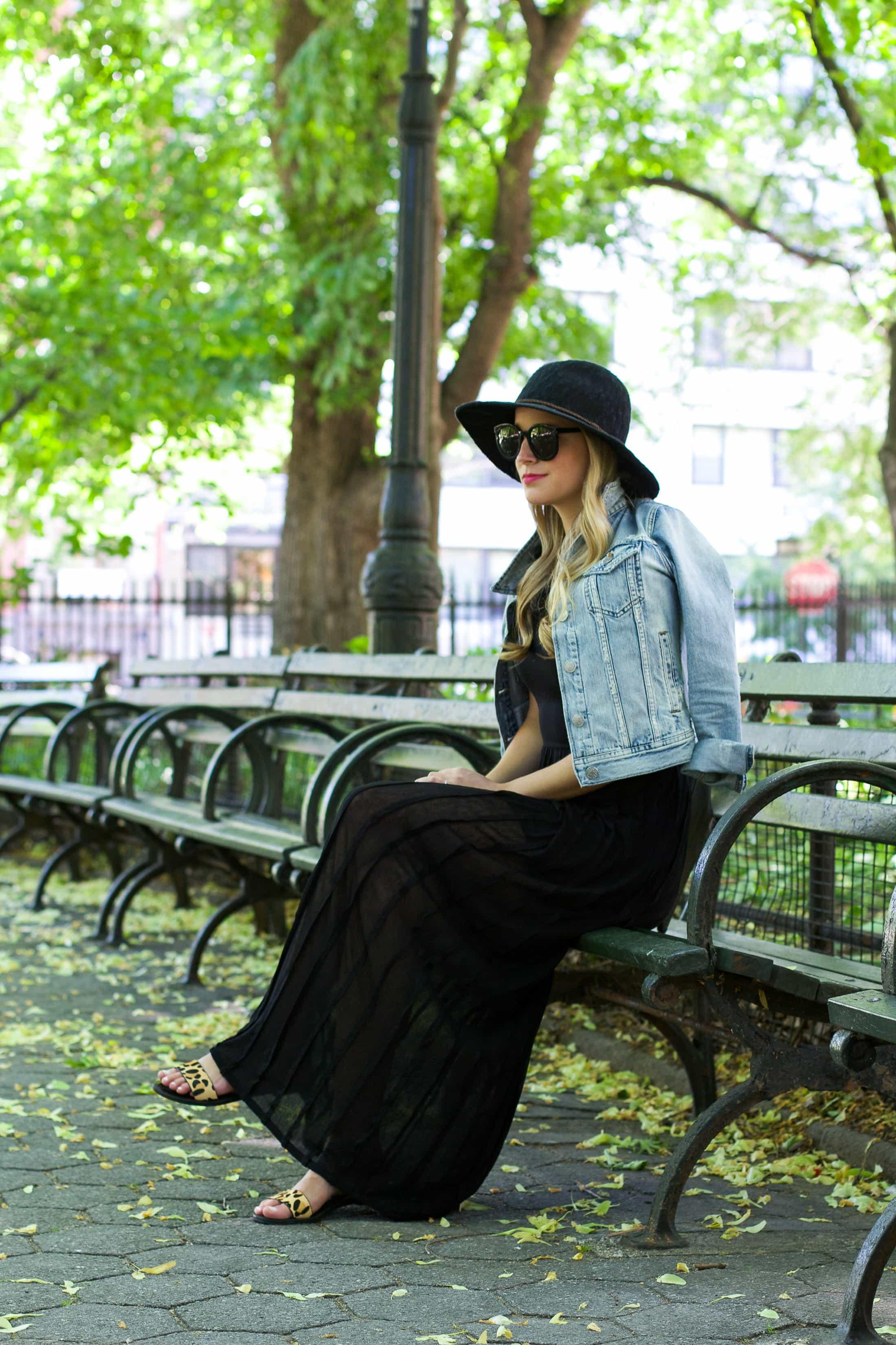 distressed denim jacket, styled snapshots