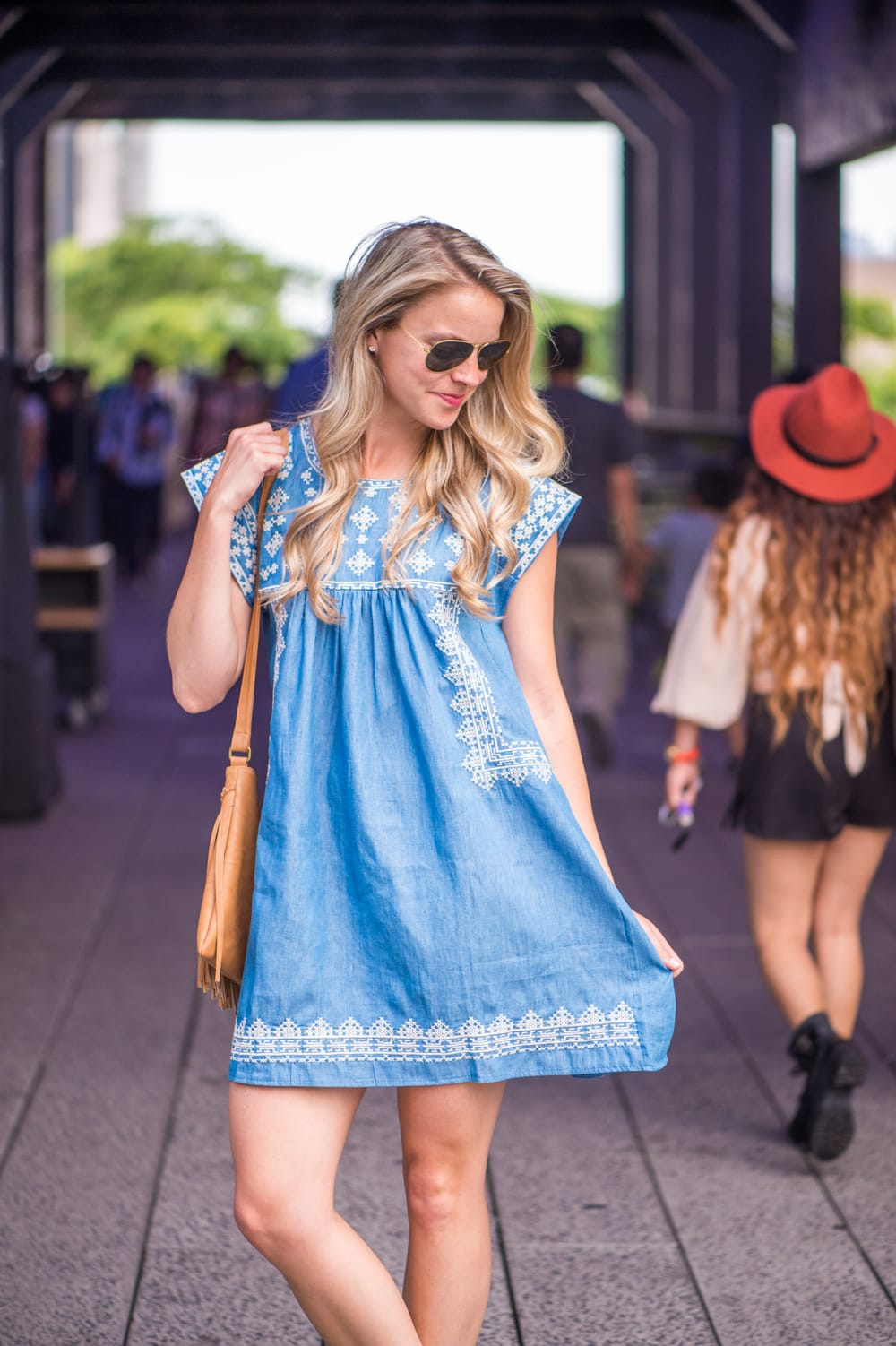 746ae2aaaa61 EMBROIDERED CHAMBRAY DRESS - Styled Snapshots