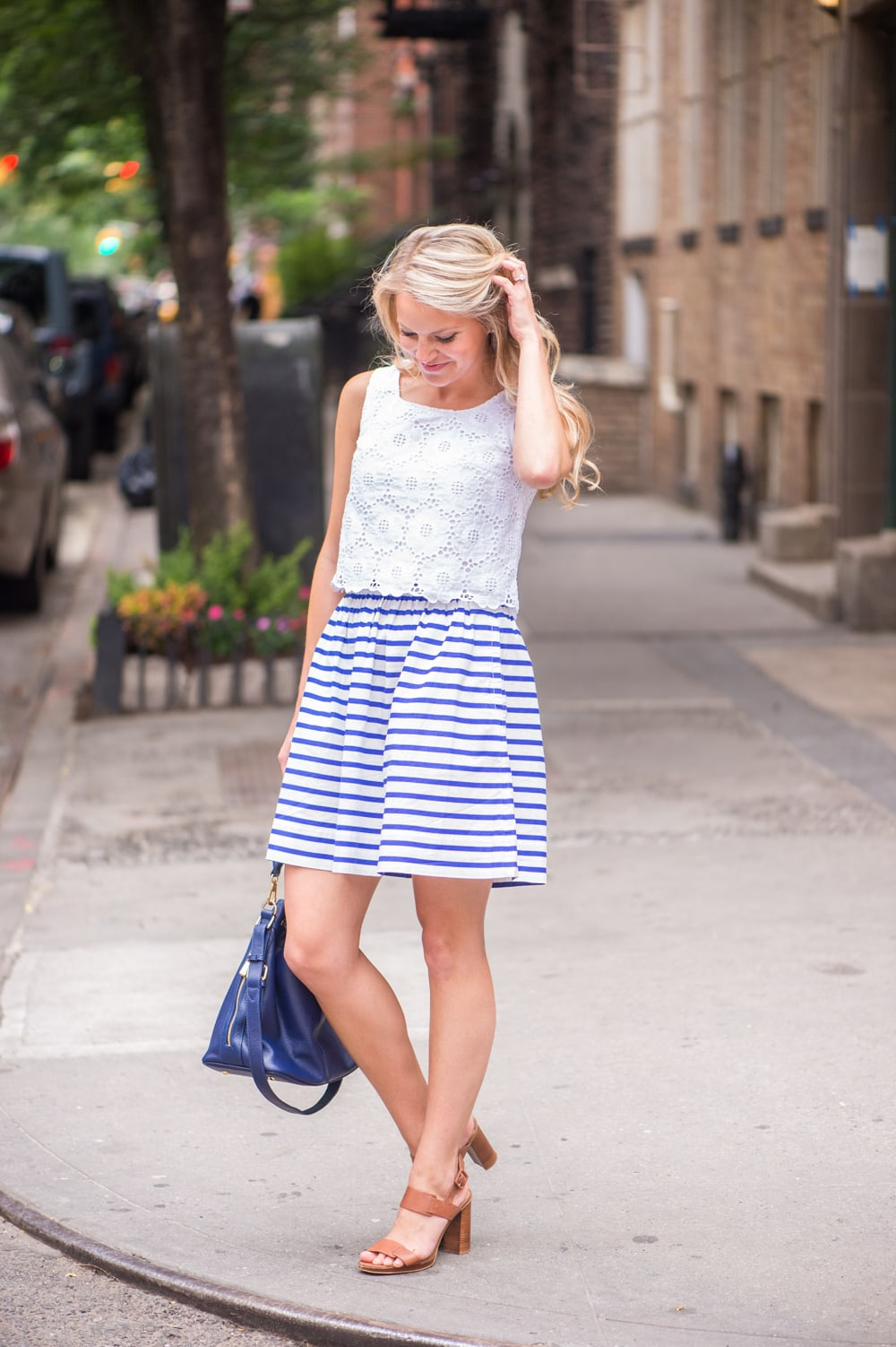 nautical stripe skirt
