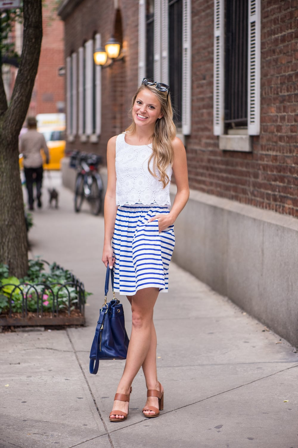 navy bucket bag, styled snapshots