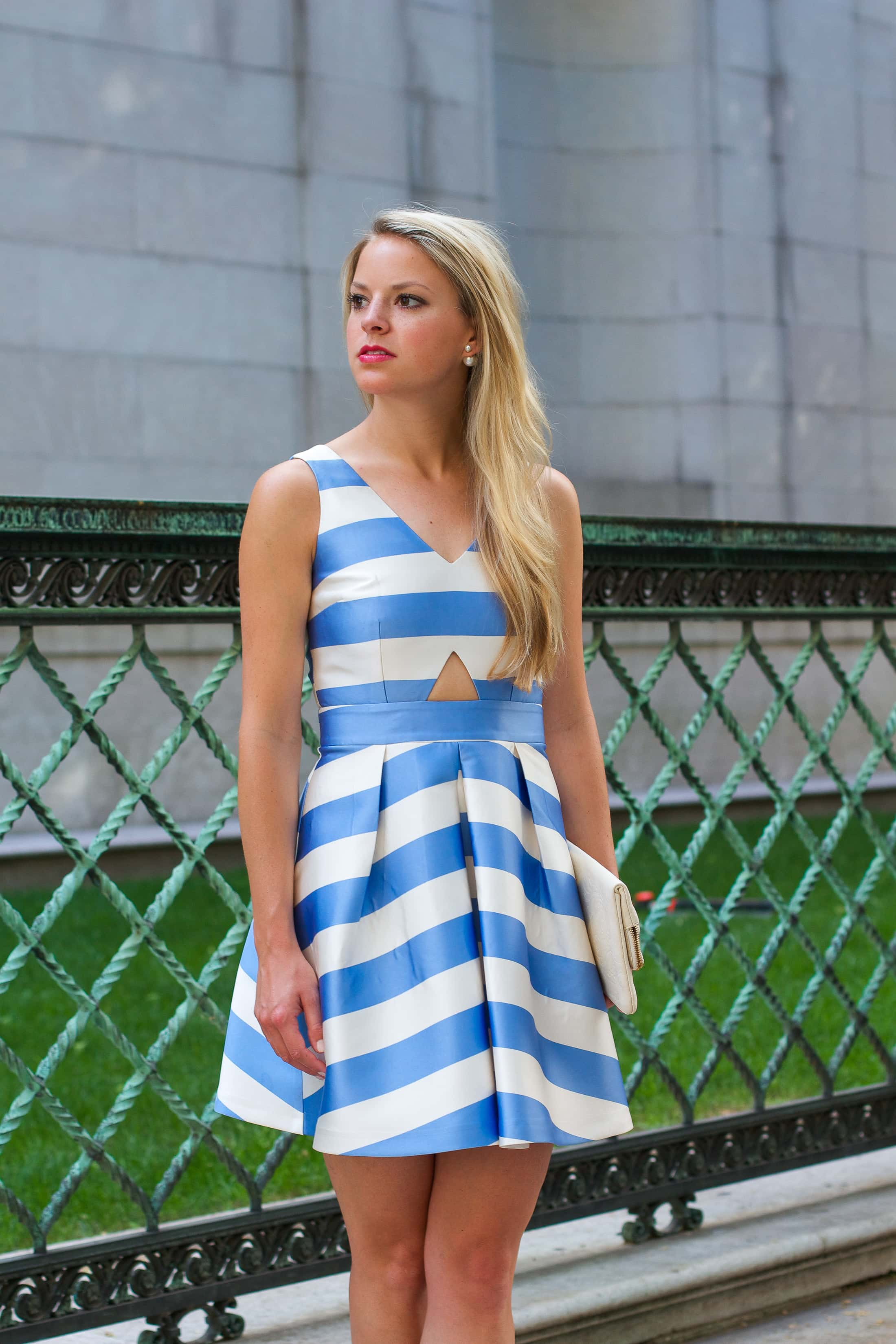 Striped Fit And Flare Dress Styled Snapshots