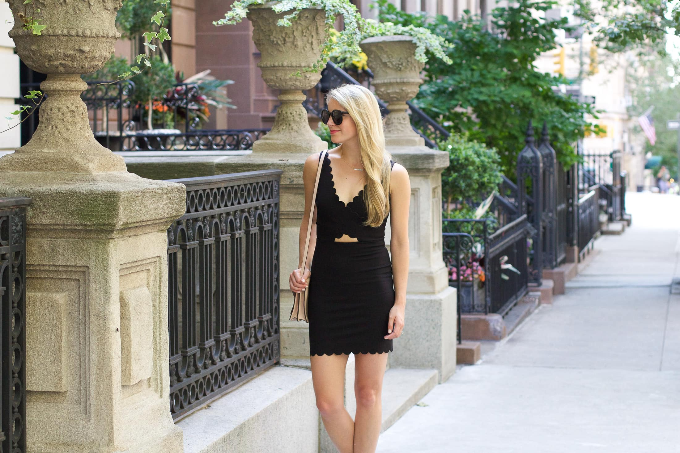 scallop dress