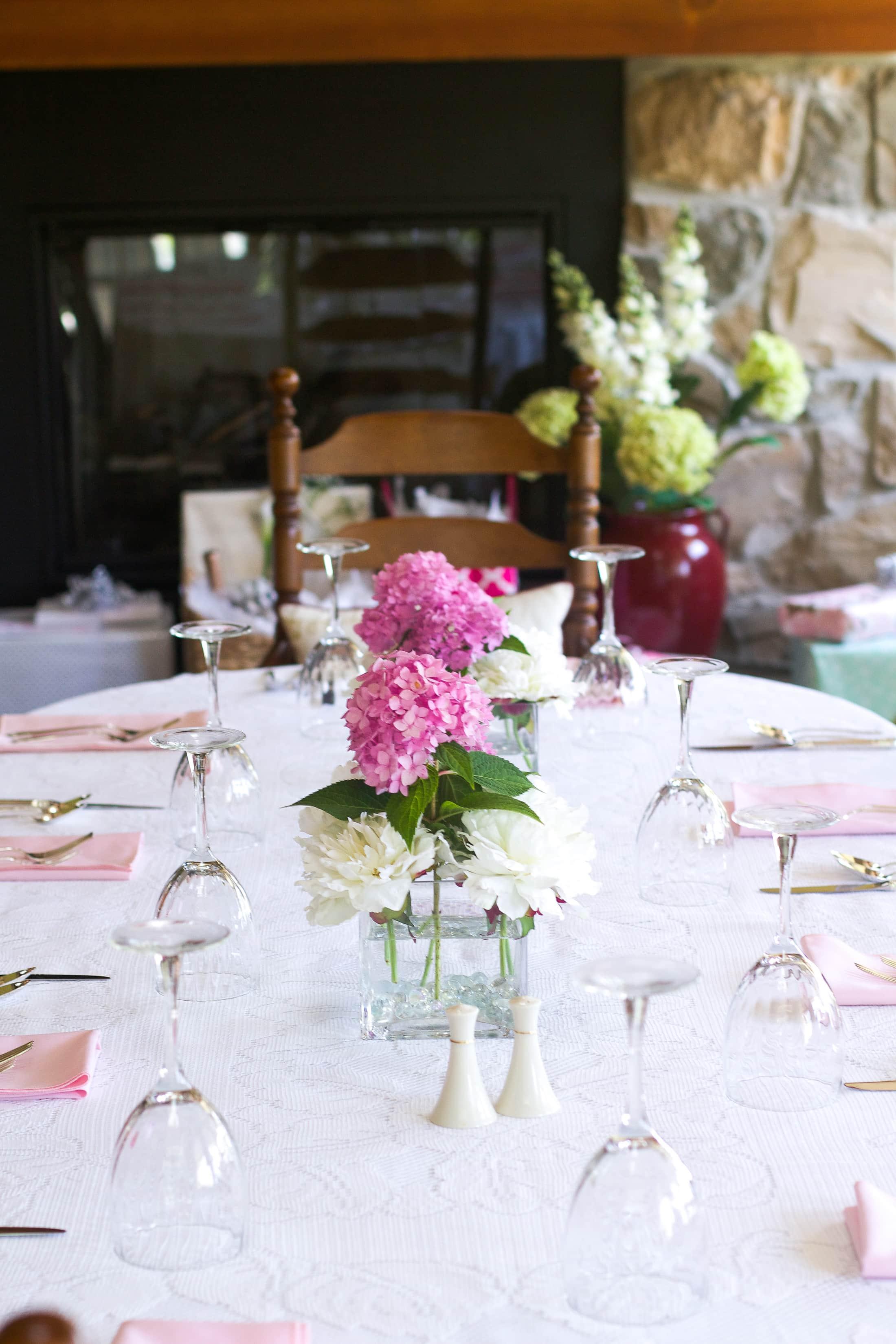 bridal shower floral arrangements