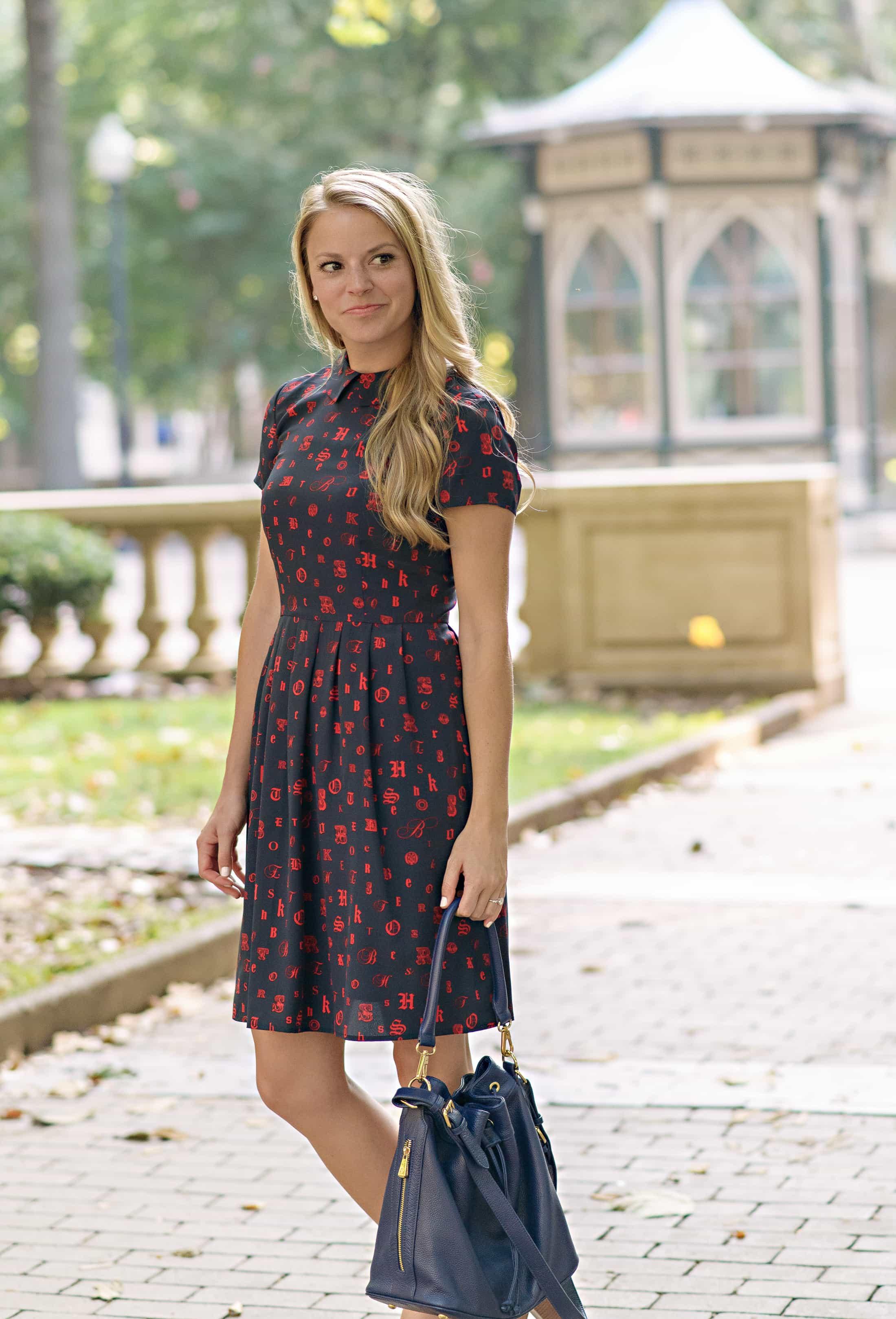 Red Fleece Silk Printed Dress Styled Snapshots
