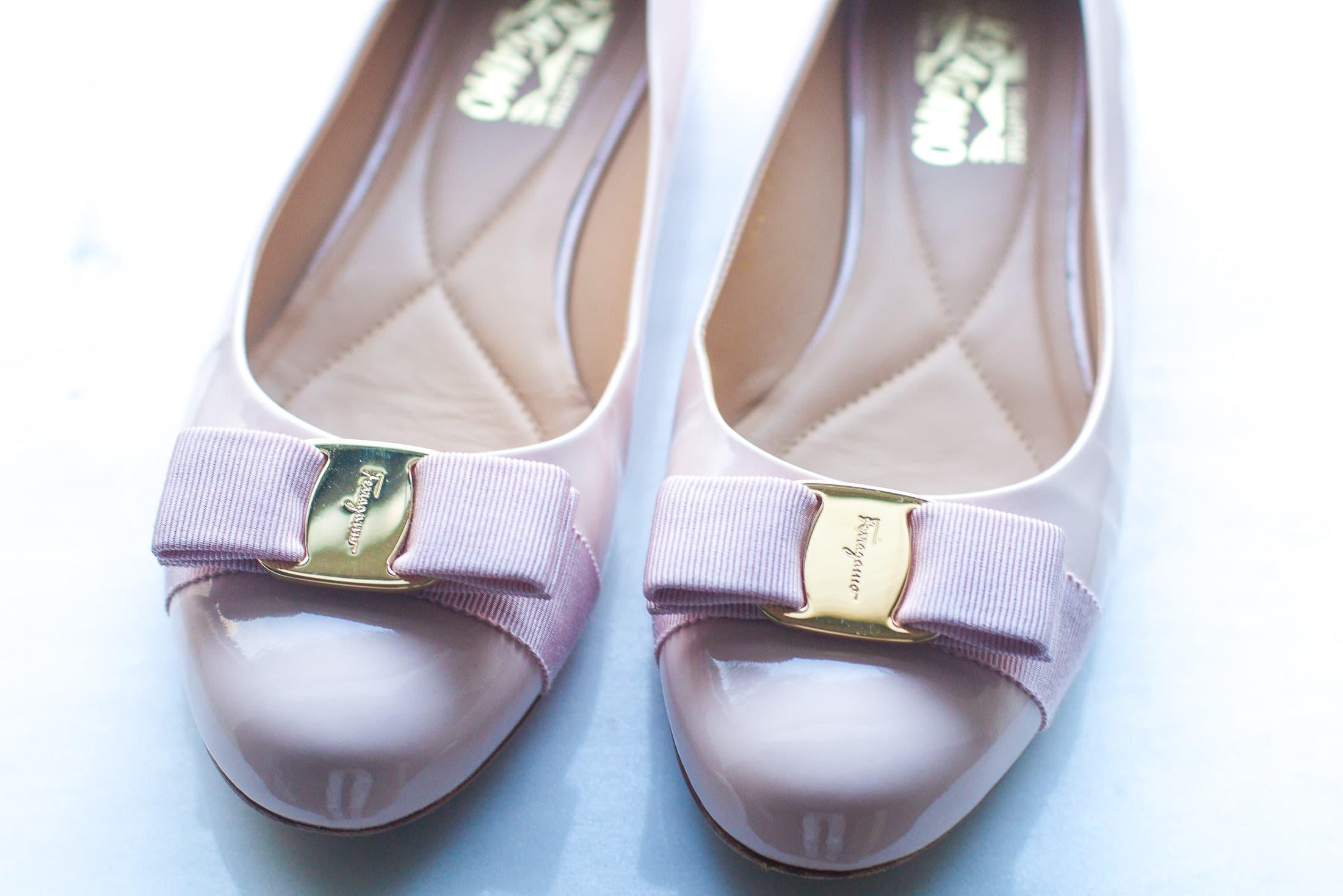 luisaviaroma shoes, salvatore ferragamo ballerina flats