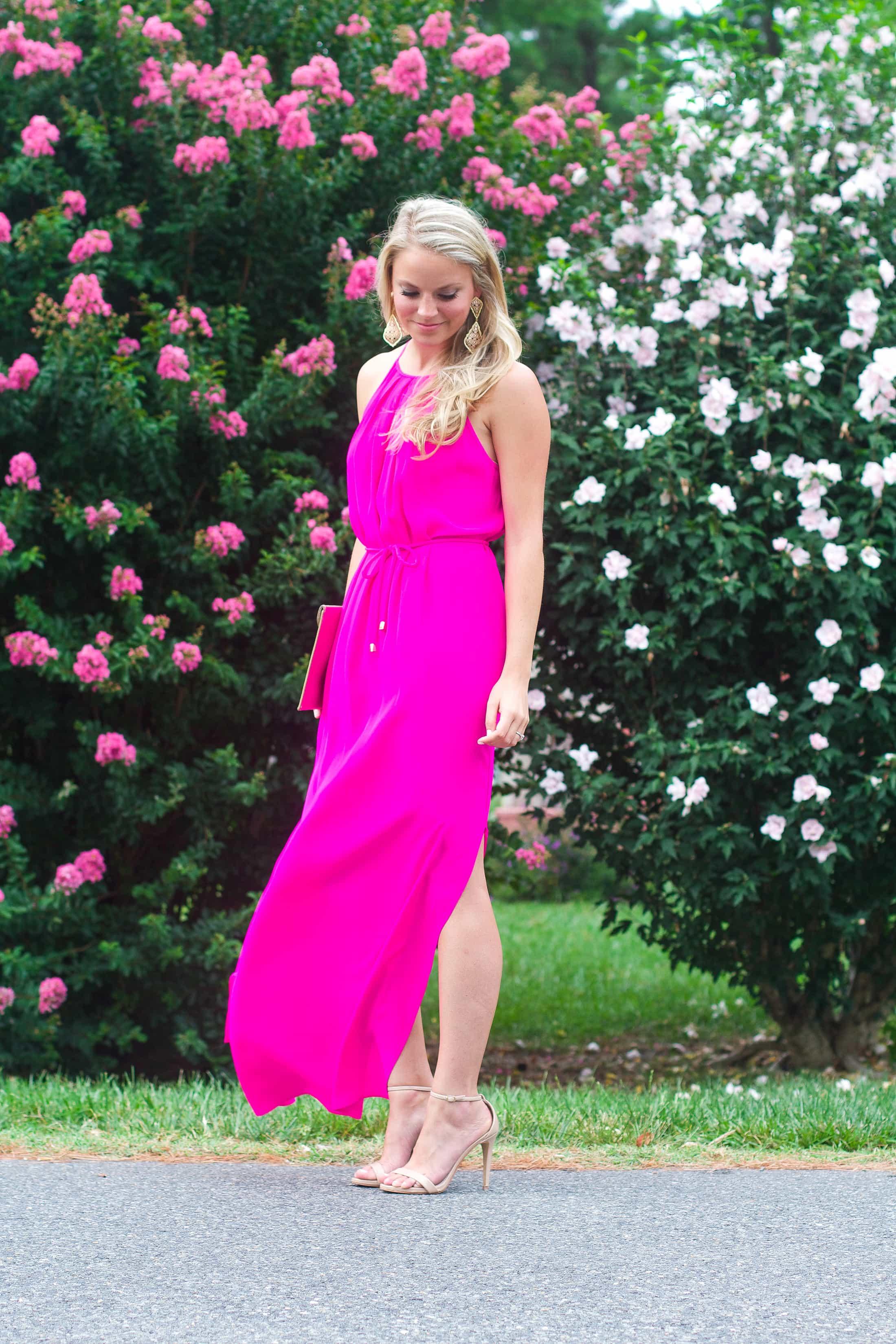 PINK MAXI DRESS Styled Snapshots