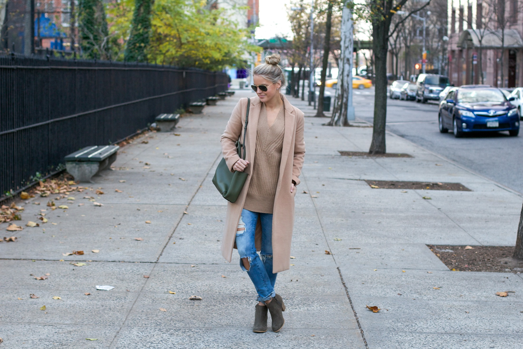 long camel coat, styled snapshots