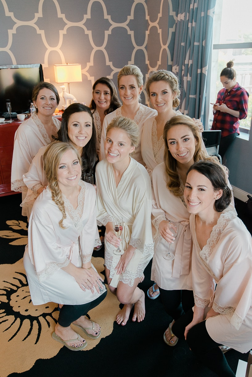bridesmaid robes, rachel pearlman photography, styled snapshots wedding