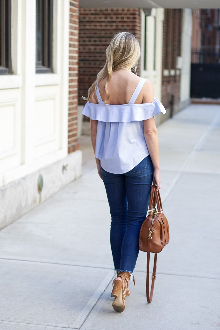 spring trends, ruffle sleeve top