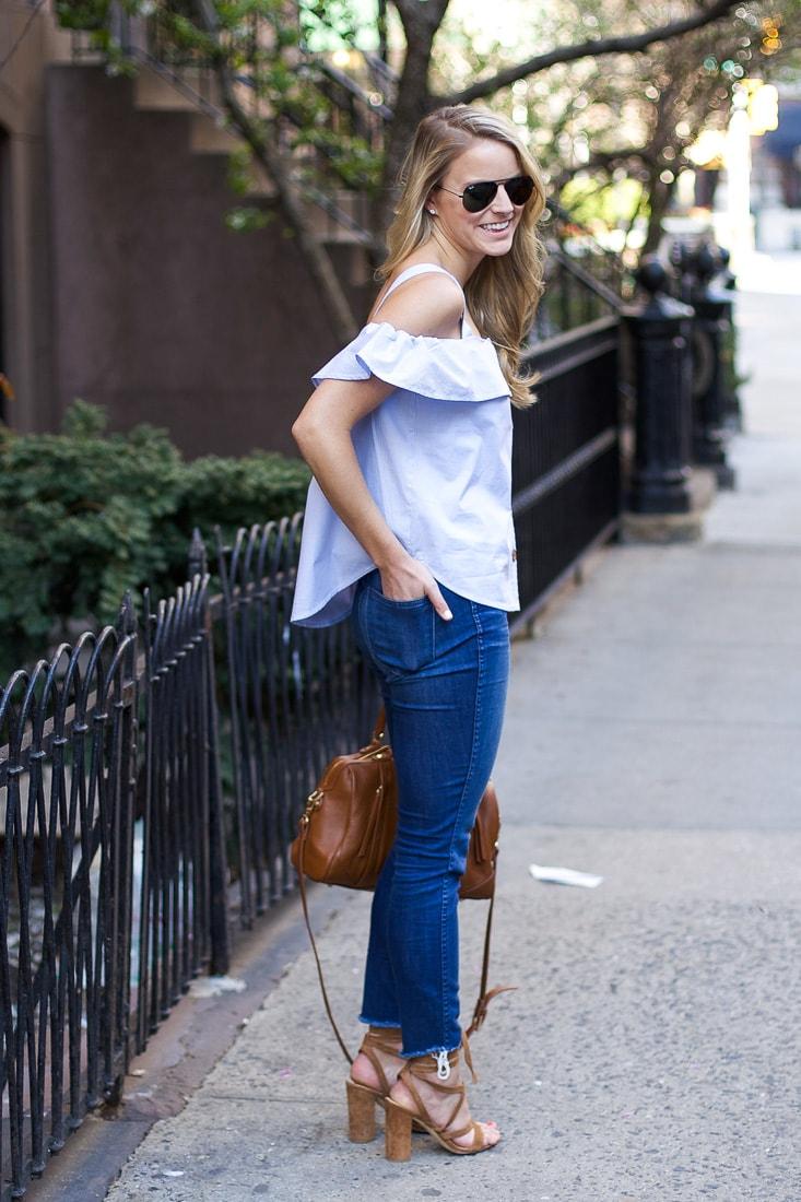 high-waisted skinny jeans, made well