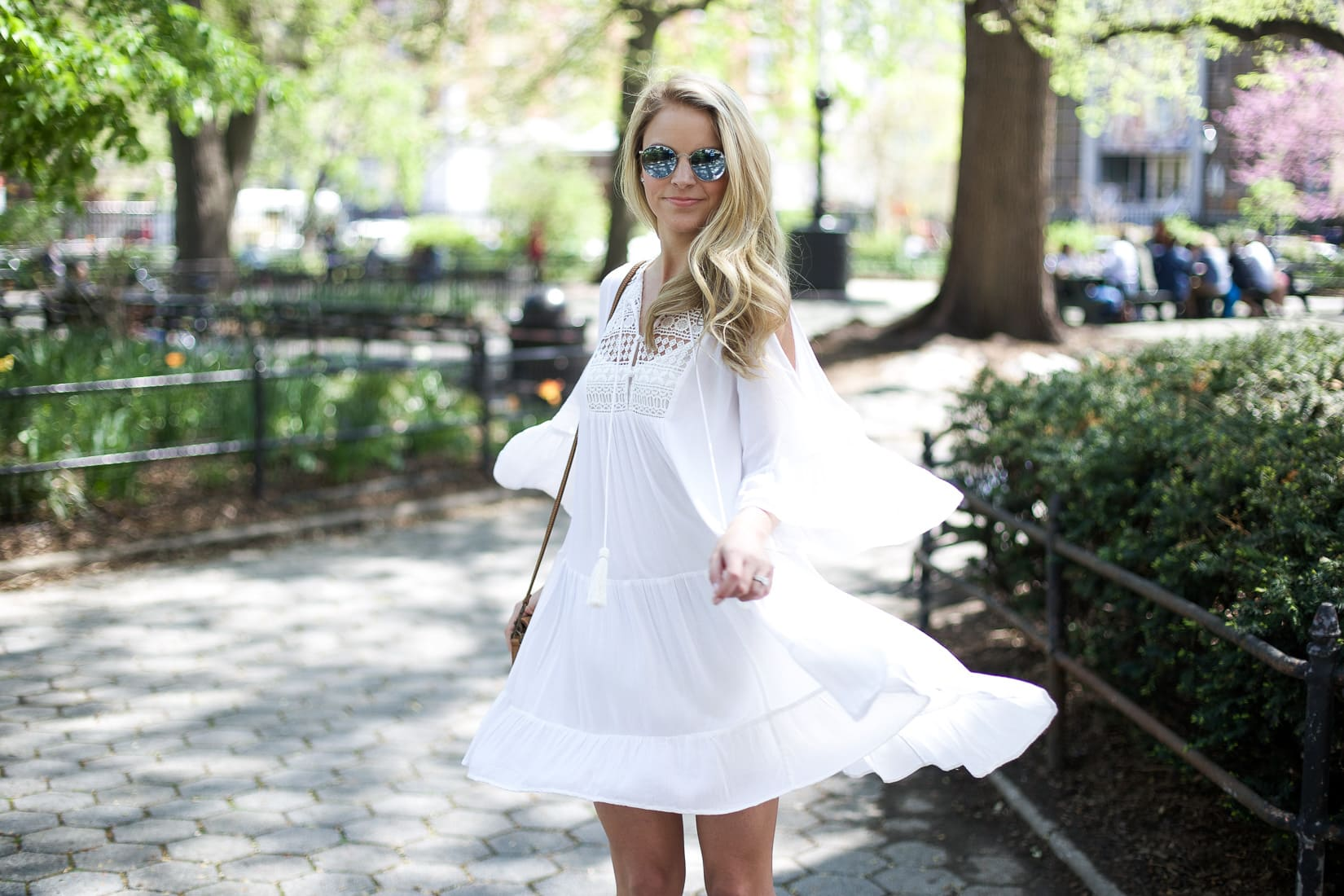 bride-to-be white dress