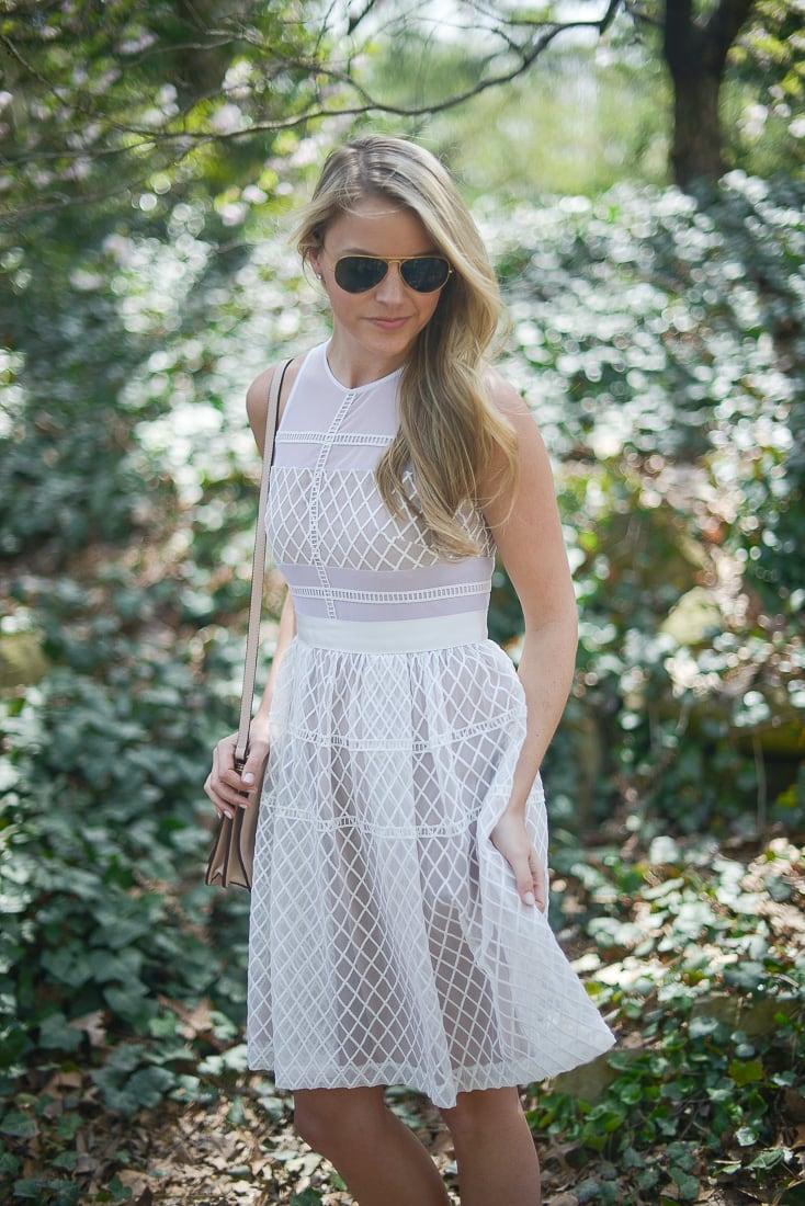 donna morgan white dress
