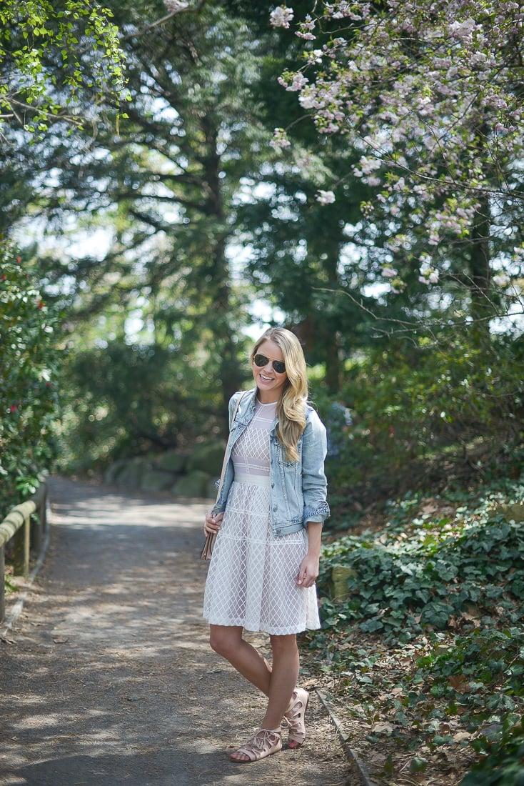 spring fashion, denim jacket