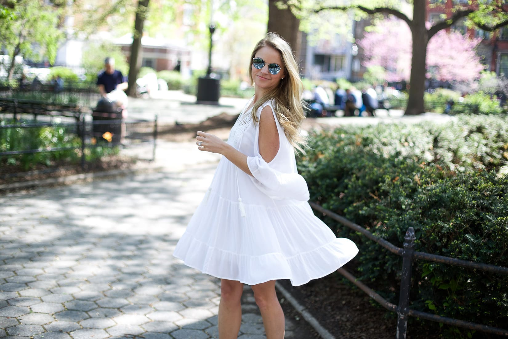 white dress, french connection