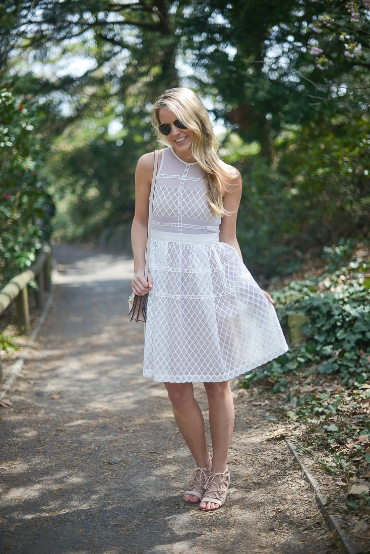 white embroidered dress, styled snapshots