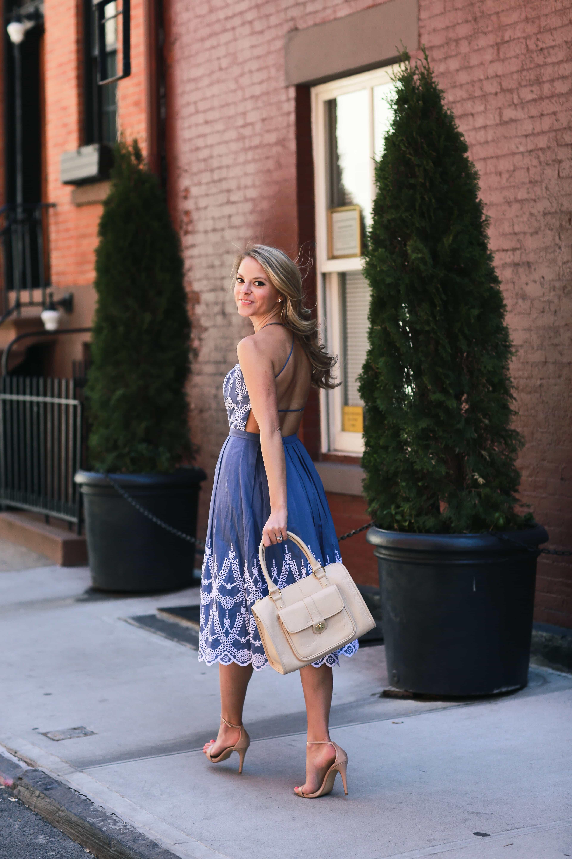 Eyelet Halter Dress Styled Snapshots