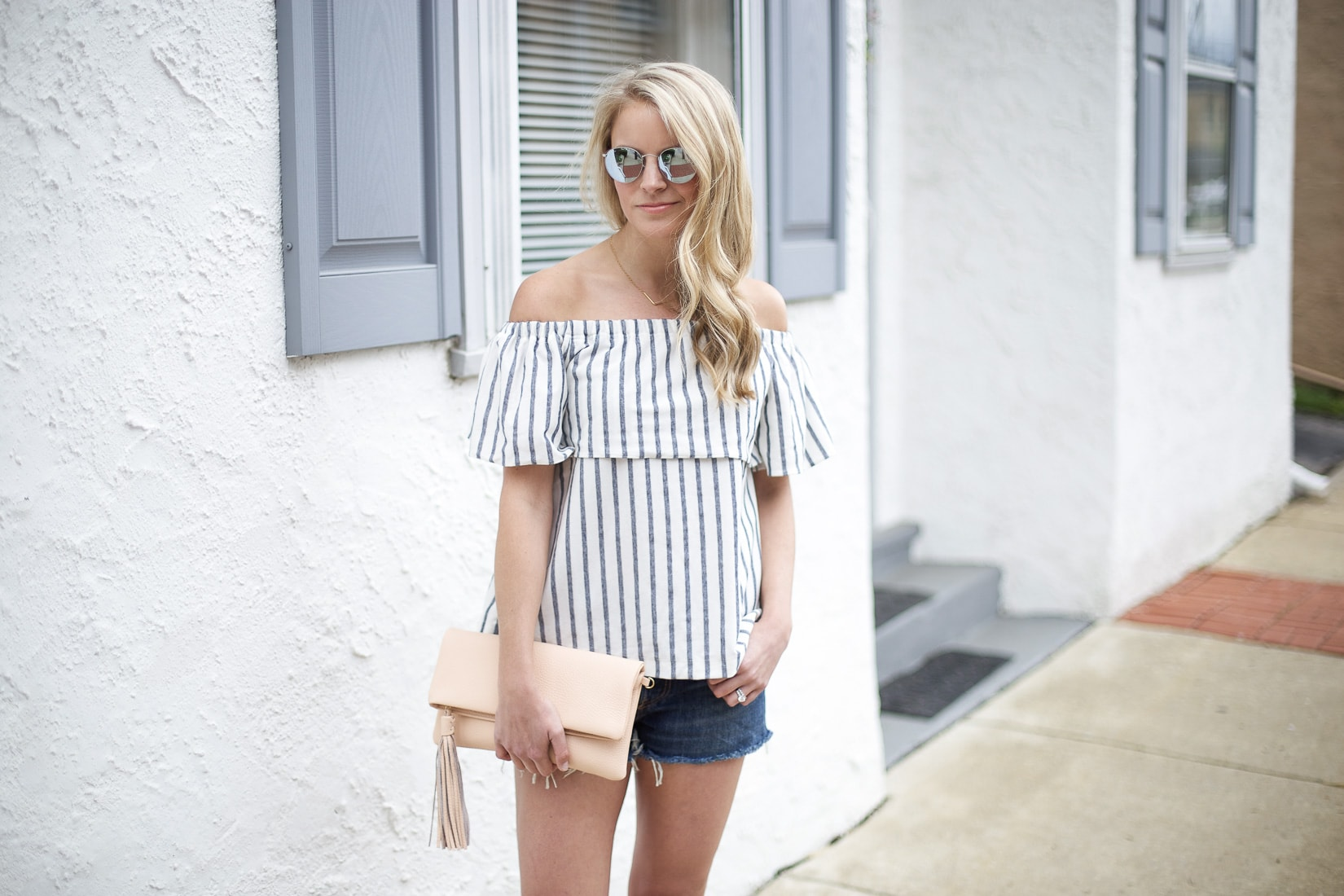 8043932d45ba6 STRIPE OFF THE SHOULDER TOP - Styled Snapshots