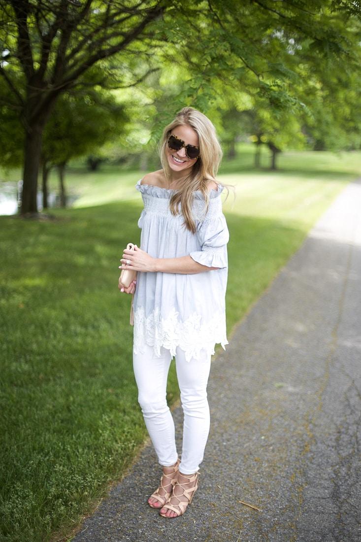 Lauren Blossom Off-the-Shoulder Top