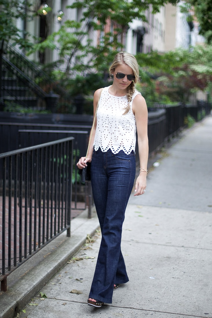 eyelet top, concert style