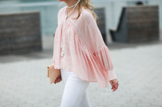 finders keepers pink blouse