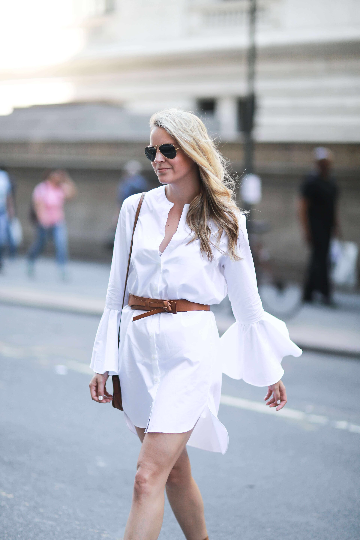a7d0b951d43 BELL SLEEVE SHIRT DRESS - Styled Snapshots