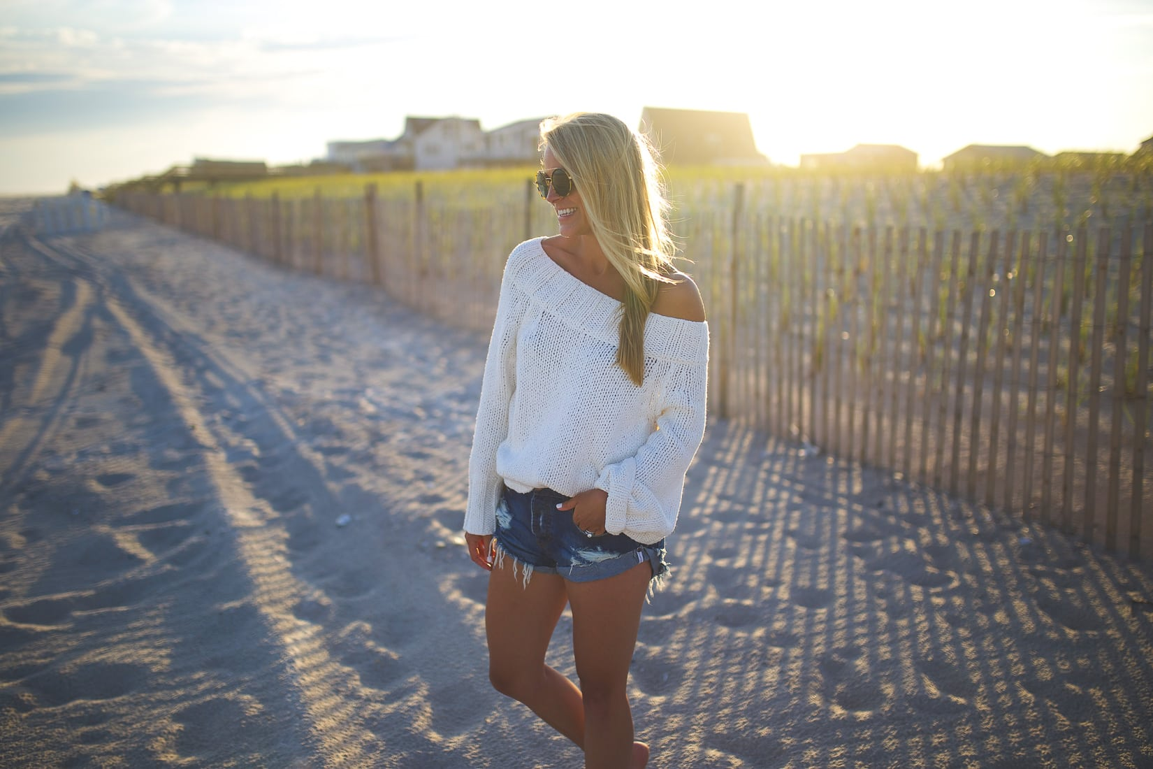 Beachy Off the Shoulder Sweater