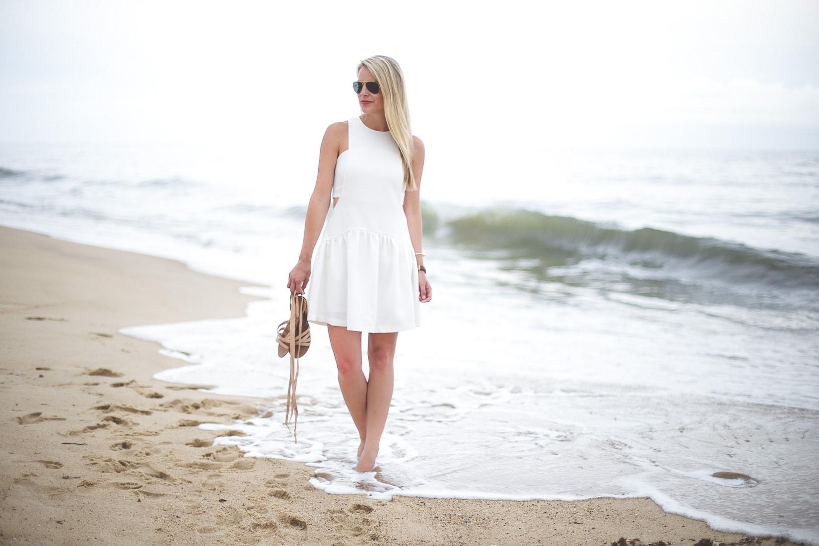 little white dress, hamptons