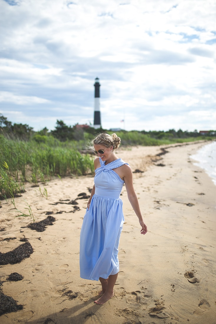 light blue cotton dress