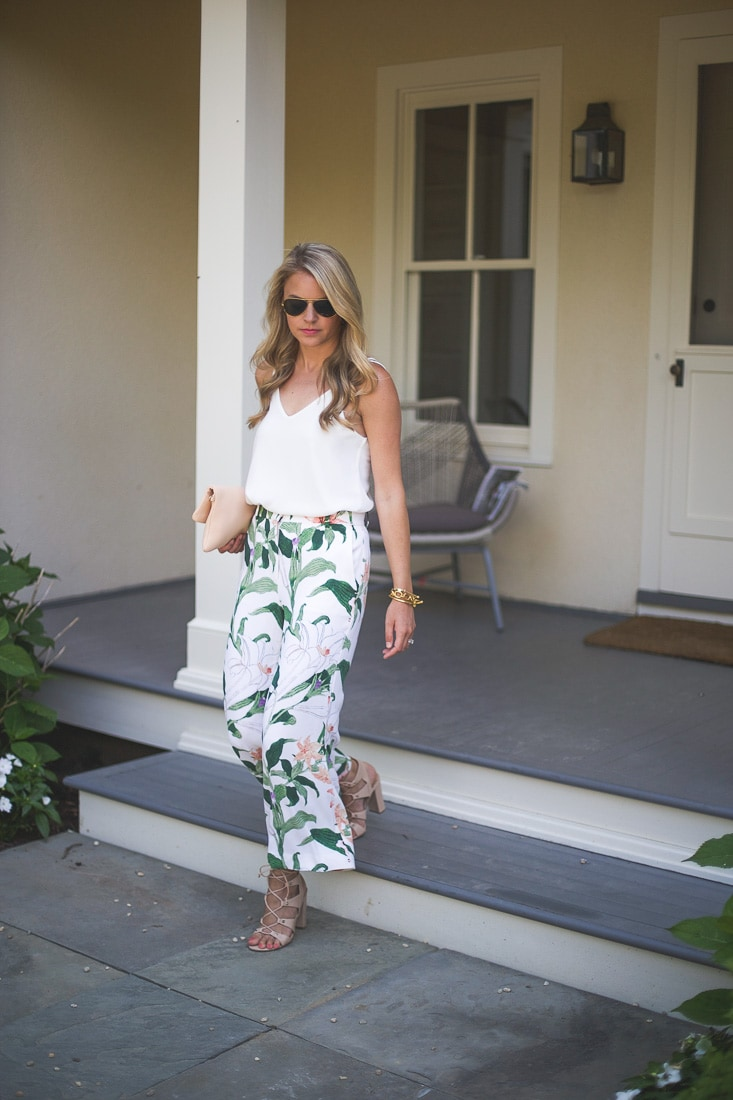 printed culotte pants