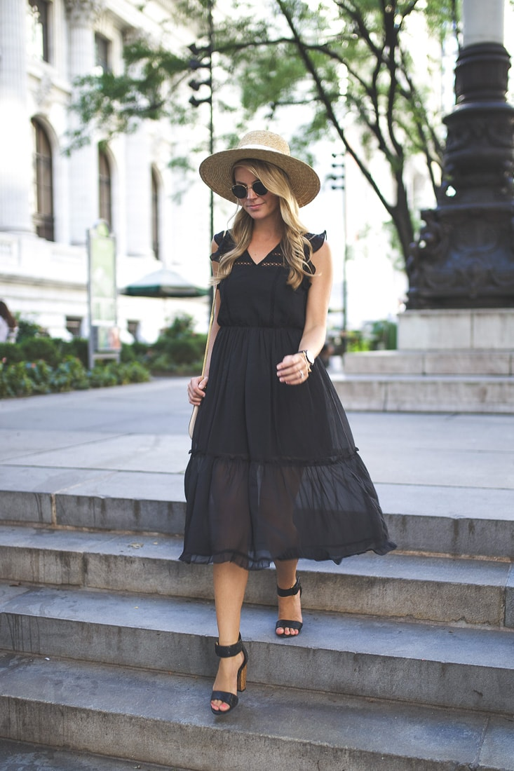 abercrombie ruffle midi dress