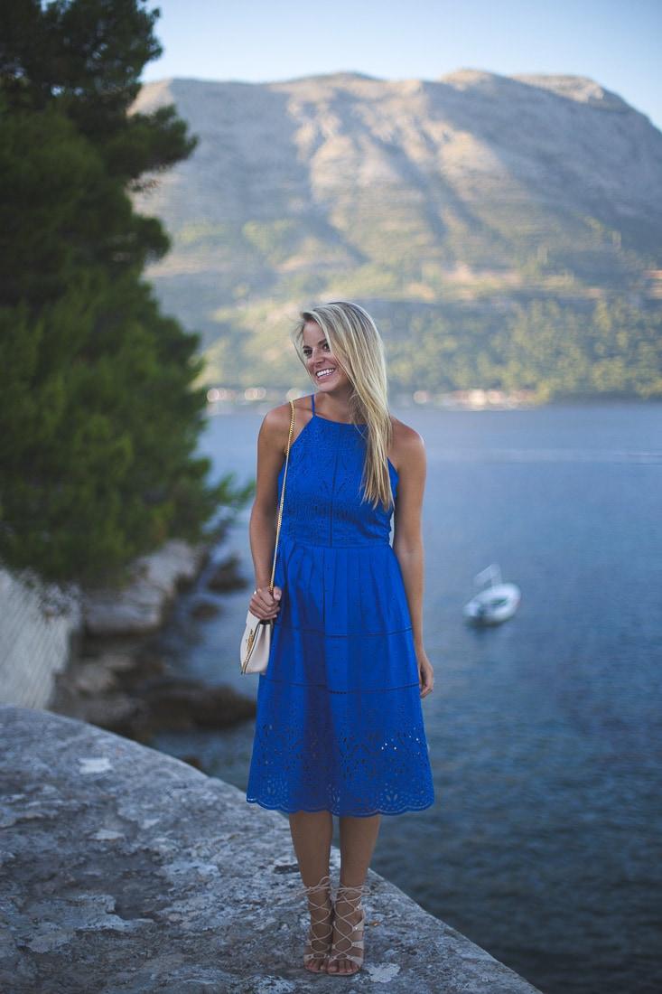 Parker Alana Eyelet-Lace Dress