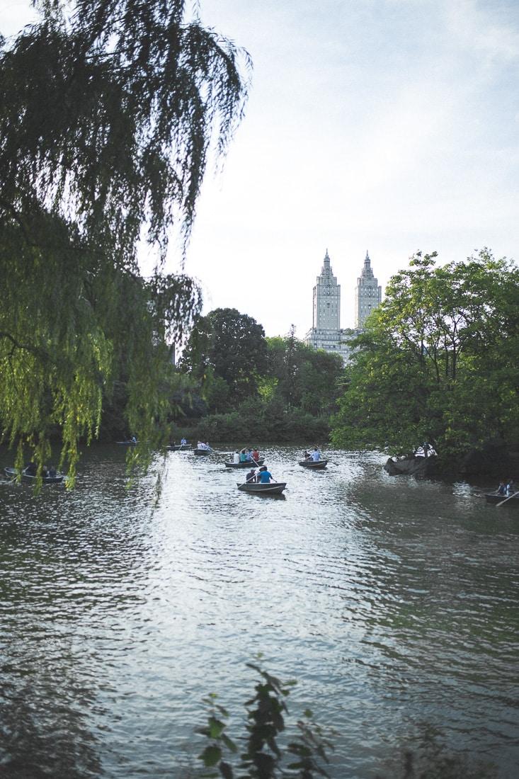Canoe Boats Central Park