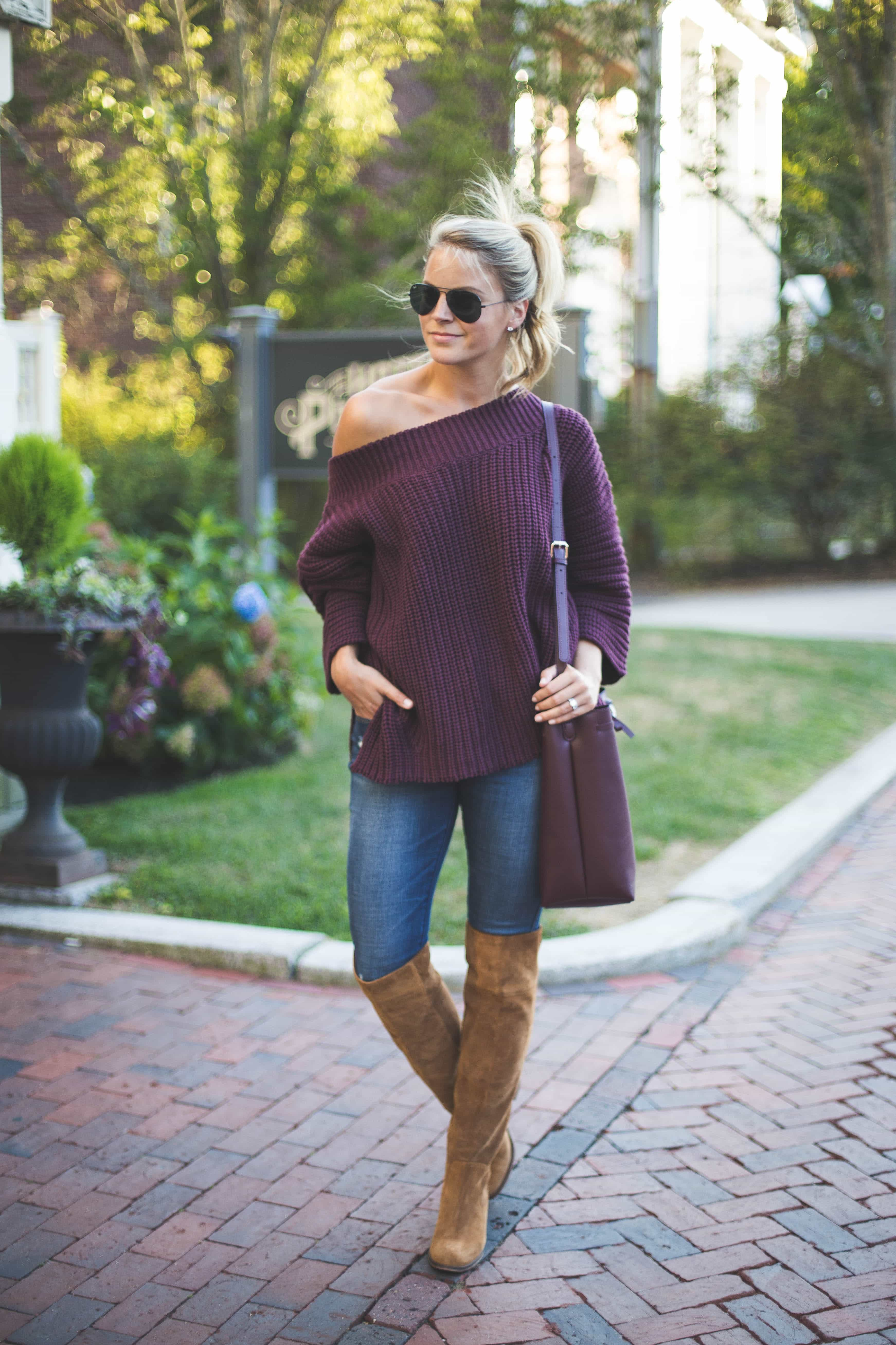 free people of fthe shoulder sweater