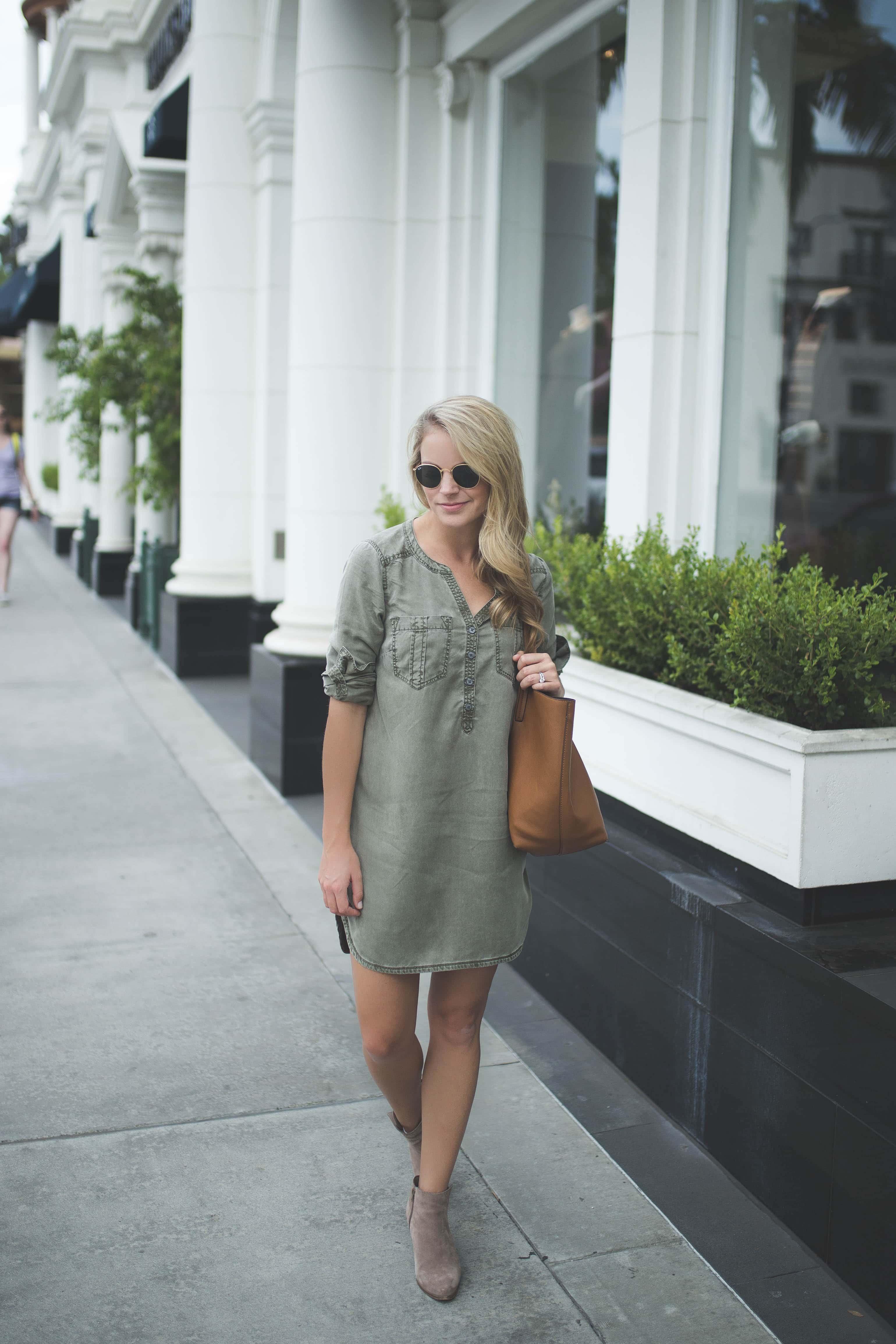 military shirt dress, express