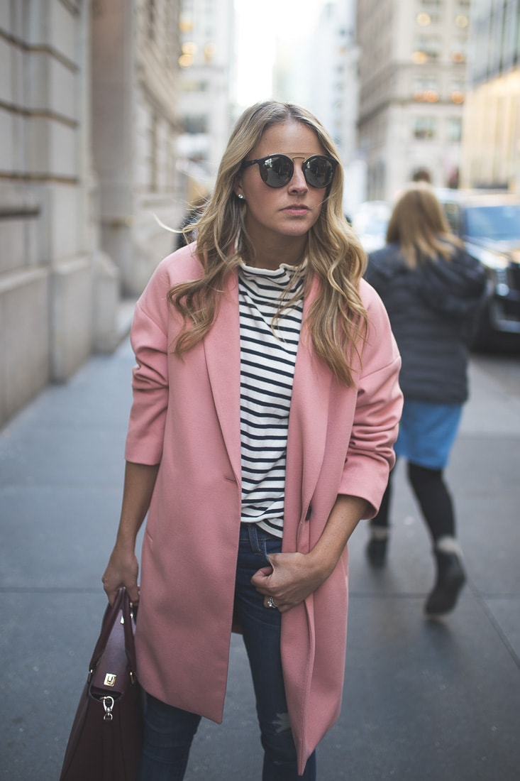 PINK COCOON COAT - Styled Snapshots
