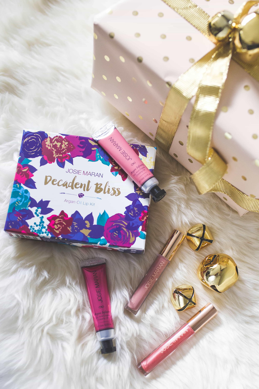 josie maran decadent bliss Argan Oil Lip Kit