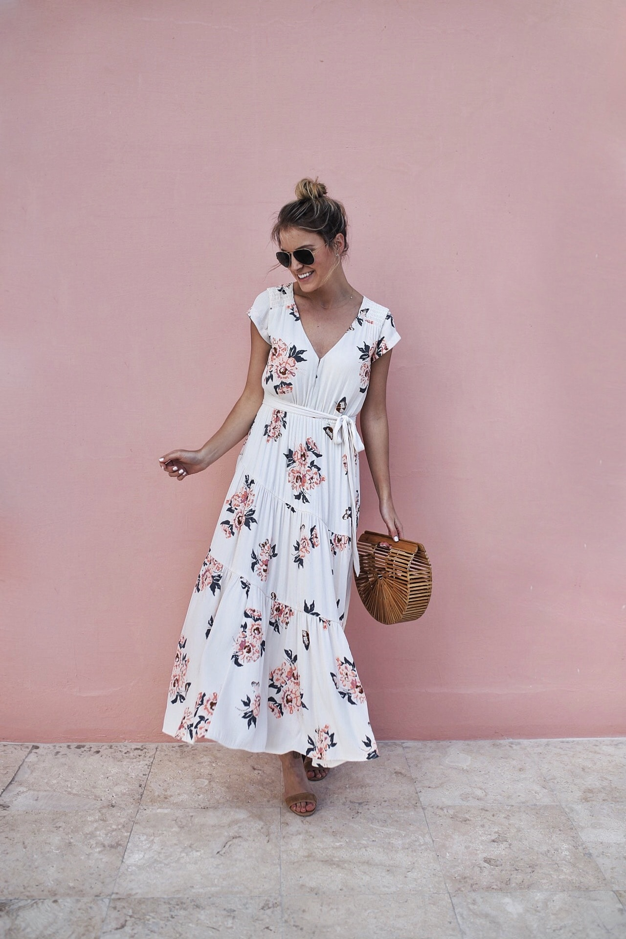 59e0bee818f0 Free People Floral Midi Dress - Styled Snapshots