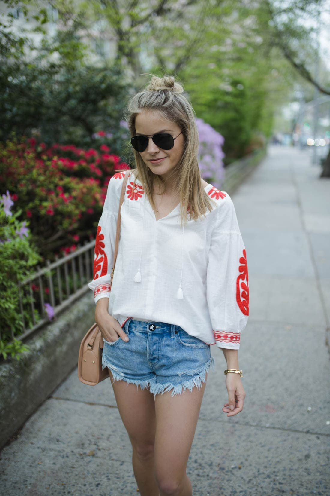 Embroidered Blanca Top