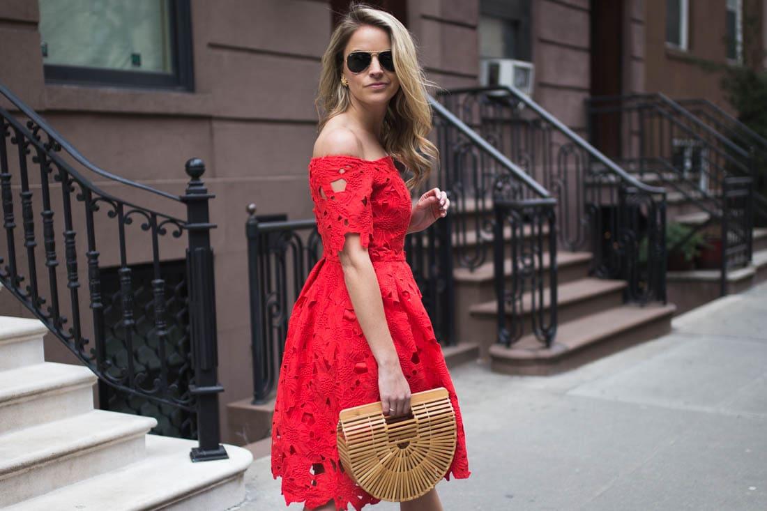 chicwish red dress