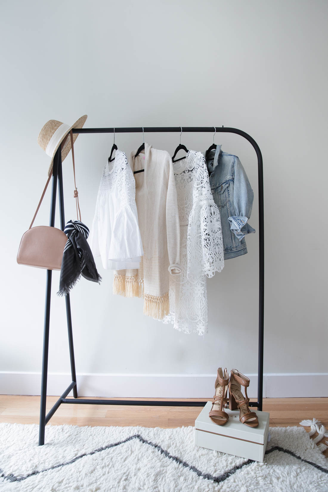 rod iron wardrobe rack