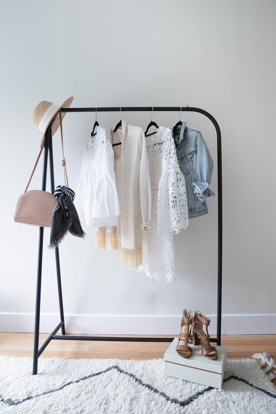 rod iron wardrobe rack