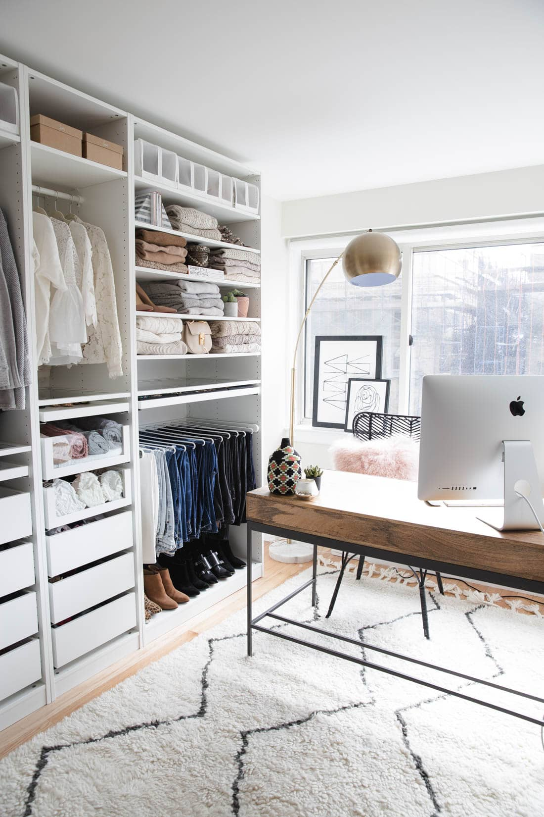 my closet office reveal styled snapshots. Black Bedroom Furniture Sets. Home Design Ideas