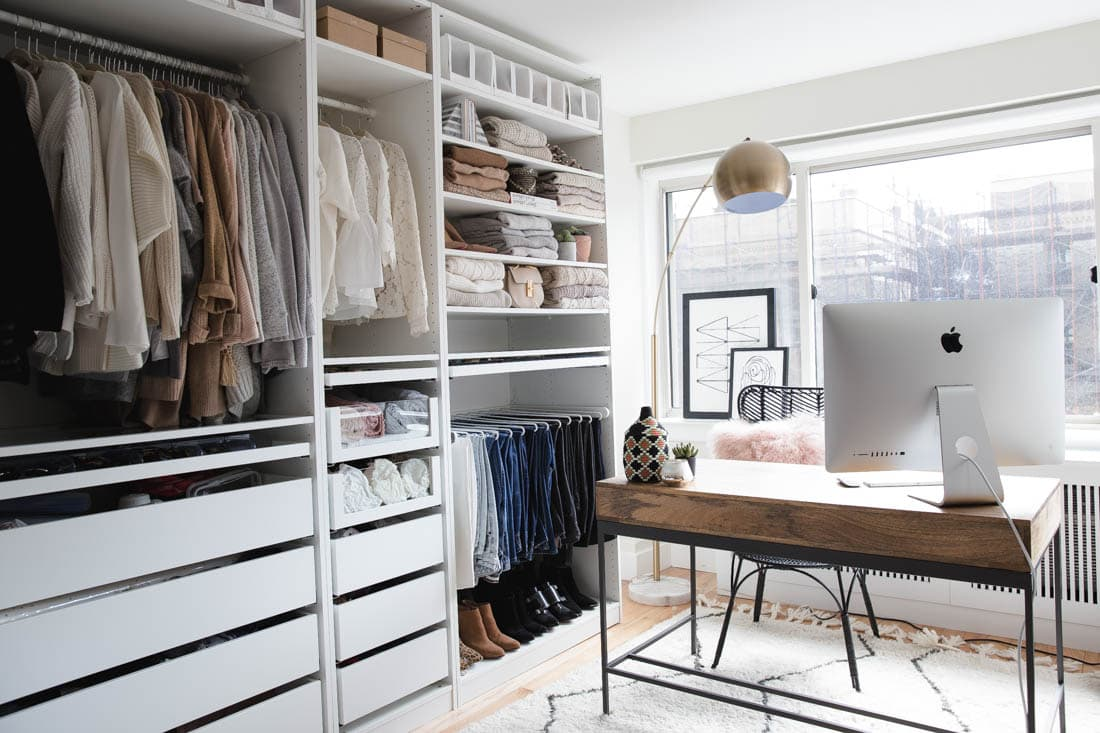 mid century modern closet