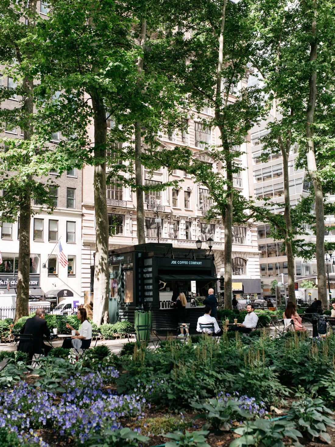 bryant park coffee stand