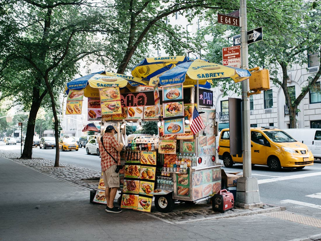 New York City Hot Dog Stand