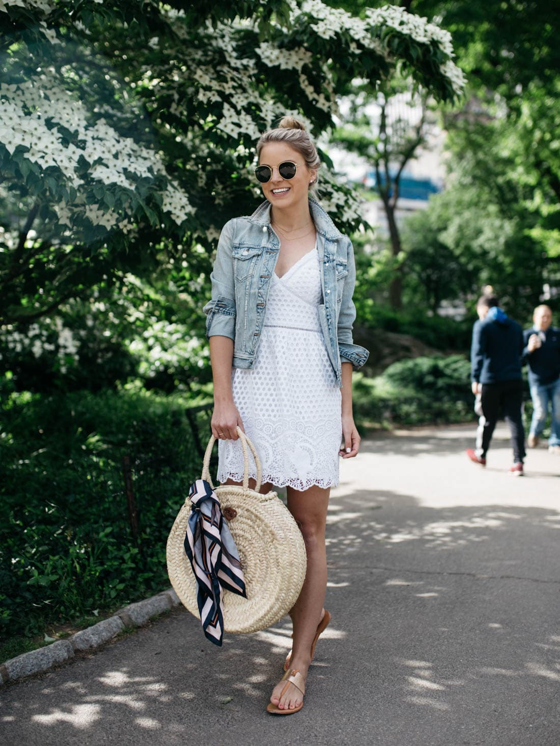 free people straw tote